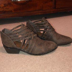 Criss cross booties